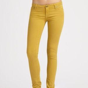 VINCE slim skinny ankle colored jeans